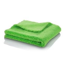 Микрофибровая двухворсовая салфетка, 400 г/см2 40х40см зеленая - фото 6026