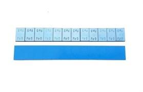 Грузики самоклеющиеся стальные на синей ленте без надписи (5гр*12шт) 100 шт.