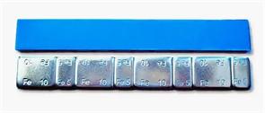 Грузики самоклеющиеся стальные на синей ленте без надписи (5гр/10гр*12шт) 100 шт.