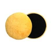 JETA PRO Полировальный диск из натуральной овчины желтый (липучка)150*25 мм