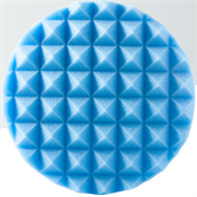Полировальный диск средней жесткости голубой (пирамидка) 150x25мм