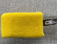 Губка-аппликатор с микрофиброй,  (жел.) 5х7х12см